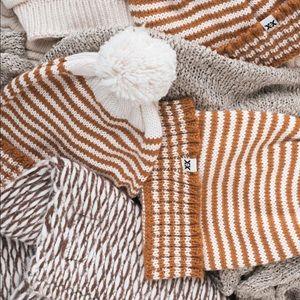 Brand new winter striped Pom Pom beanie!